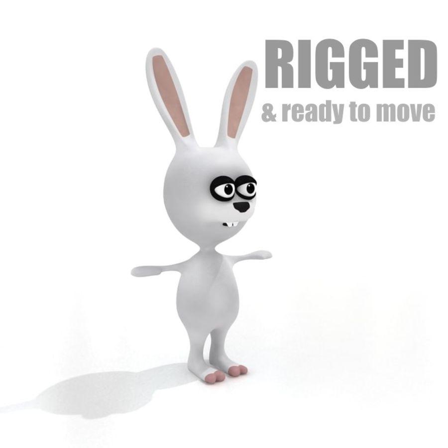 Cartoon Rabbit (truccato) royalty-free 3d model - Preview no. 4