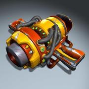 Space Gun - NukeCharger 3d model