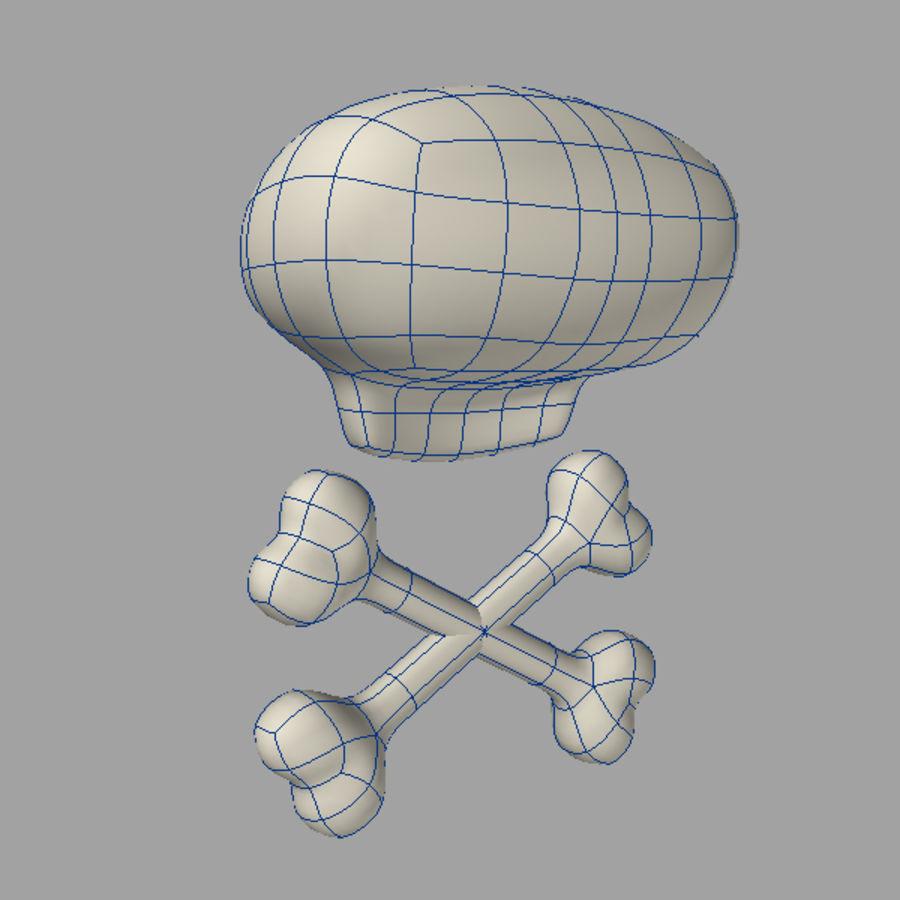 Teschio di cartone animato modello d obj lwo max free d