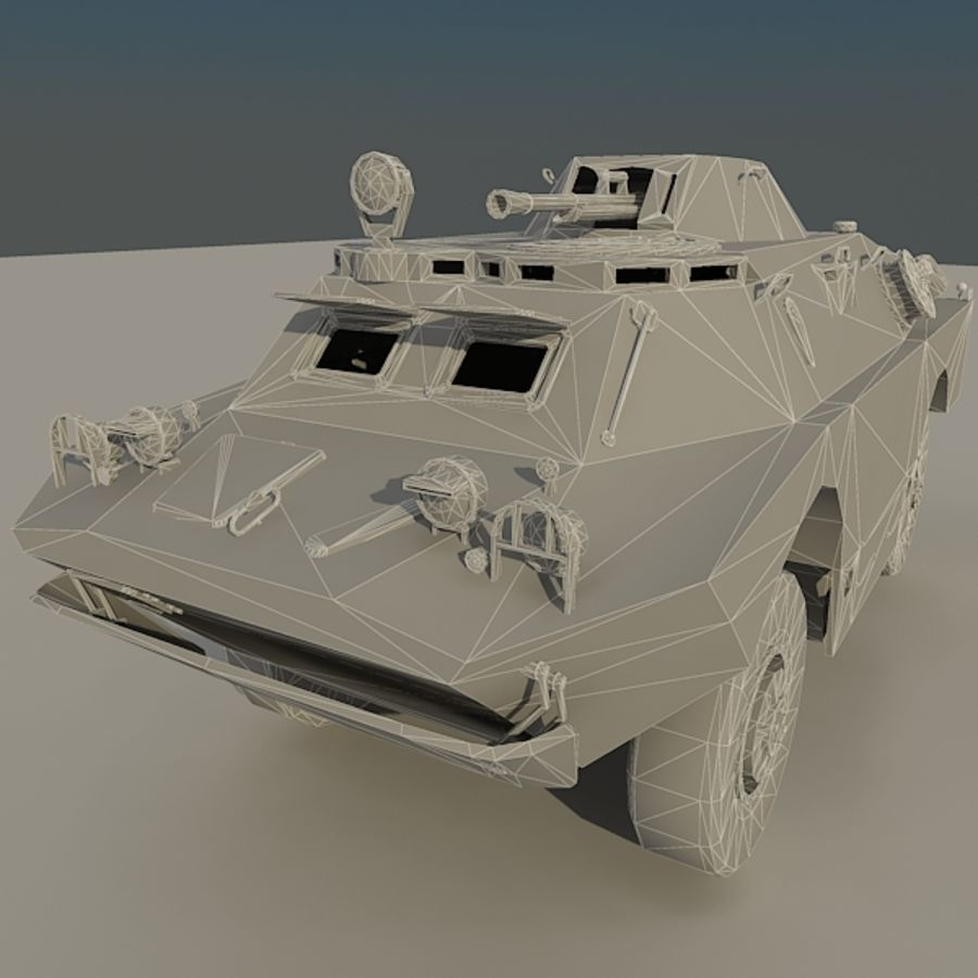 BRDM 2 soviet military vehicle royalty-free 3d model - Preview no. 13