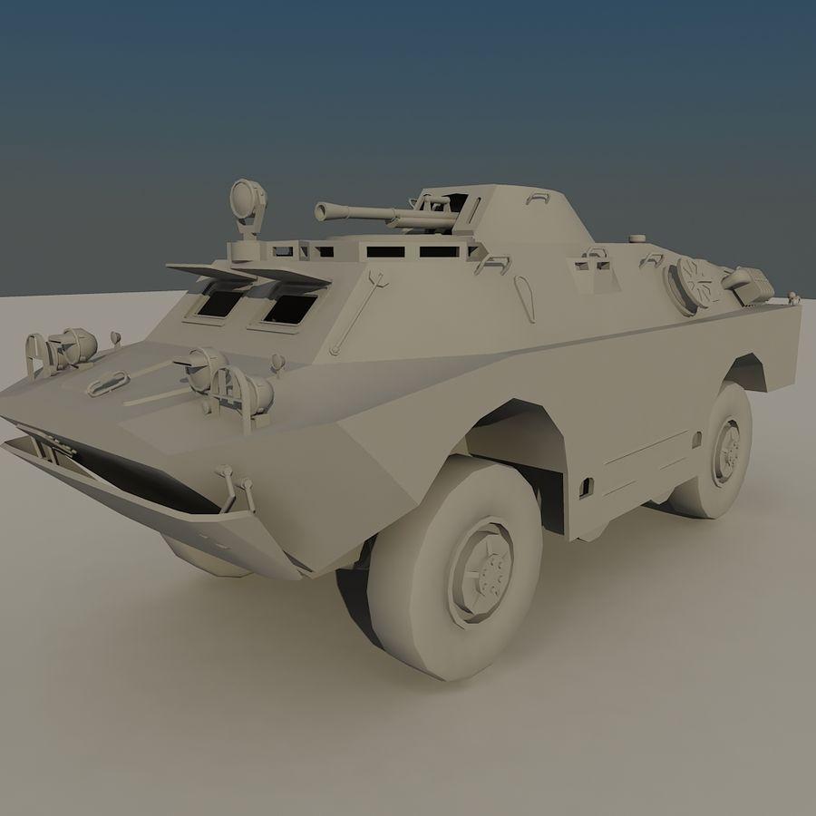 БРДМ 2 советский военный автомобиль royalty-free 3d model - Preview no. 2
