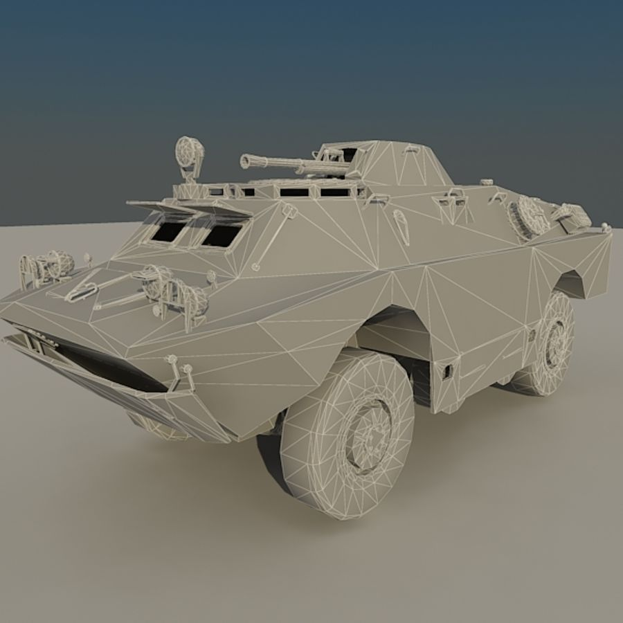 BRDM 2 soviet military vehicle royalty-free 3d model - Preview no. 11