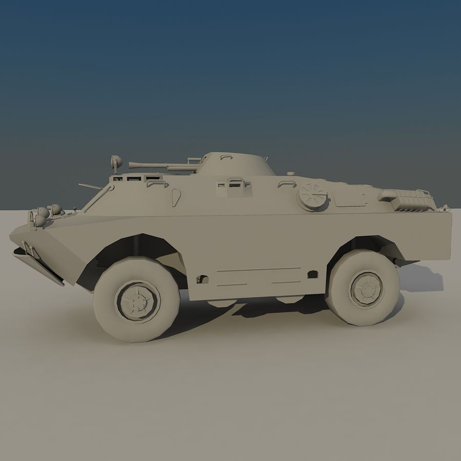 BRDM 2 soviet military vehicle royalty-free 3d model - Preview no. 3