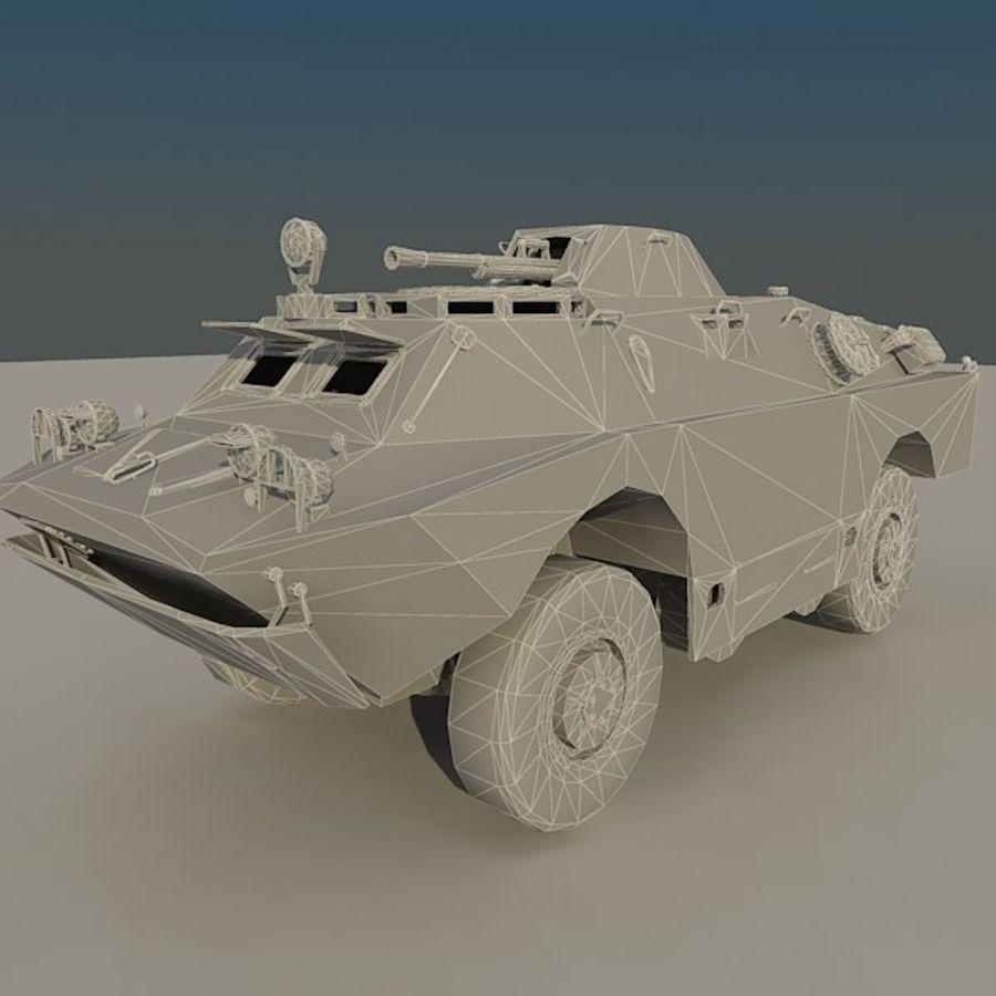 БРДМ 2 советский военный автомобиль royalty-free 3d model - Preview no. 11