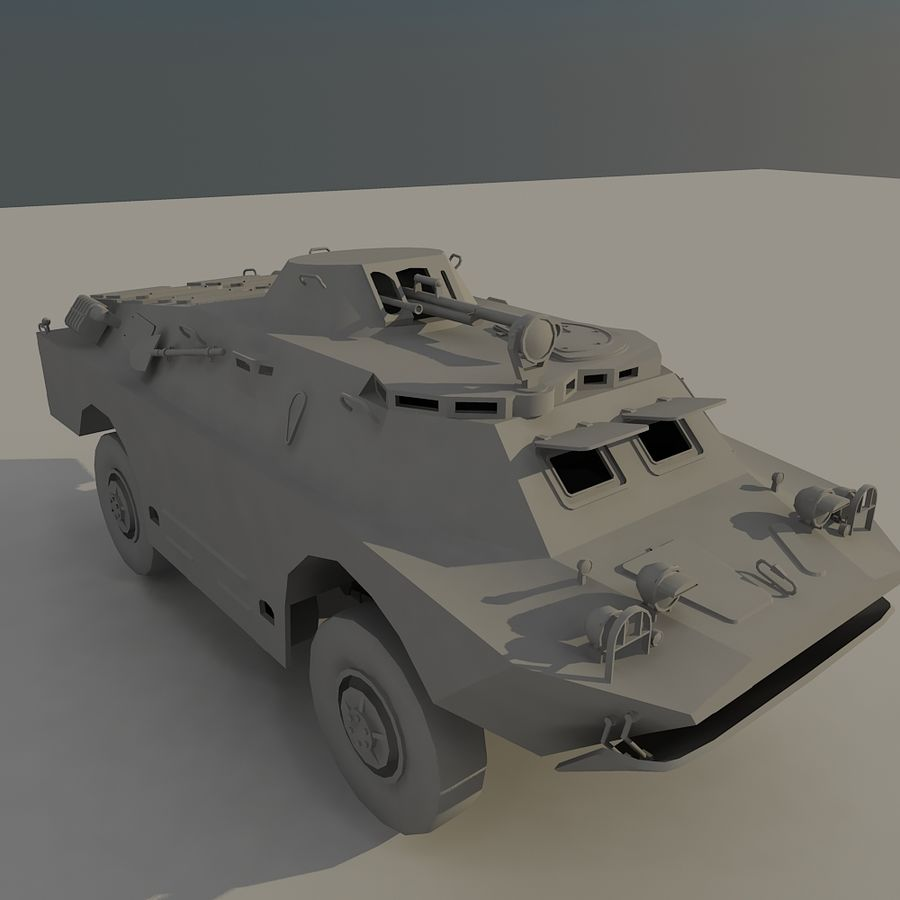 BRDM 2 soviet military vehicle royalty-free 3d model - Preview no. 7