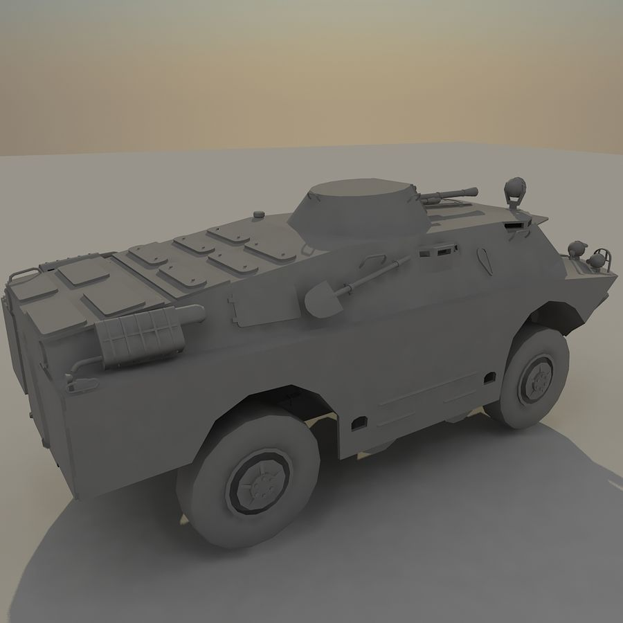 BRDM 2 soviet military vehicle royalty-free 3d model - Preview no. 6