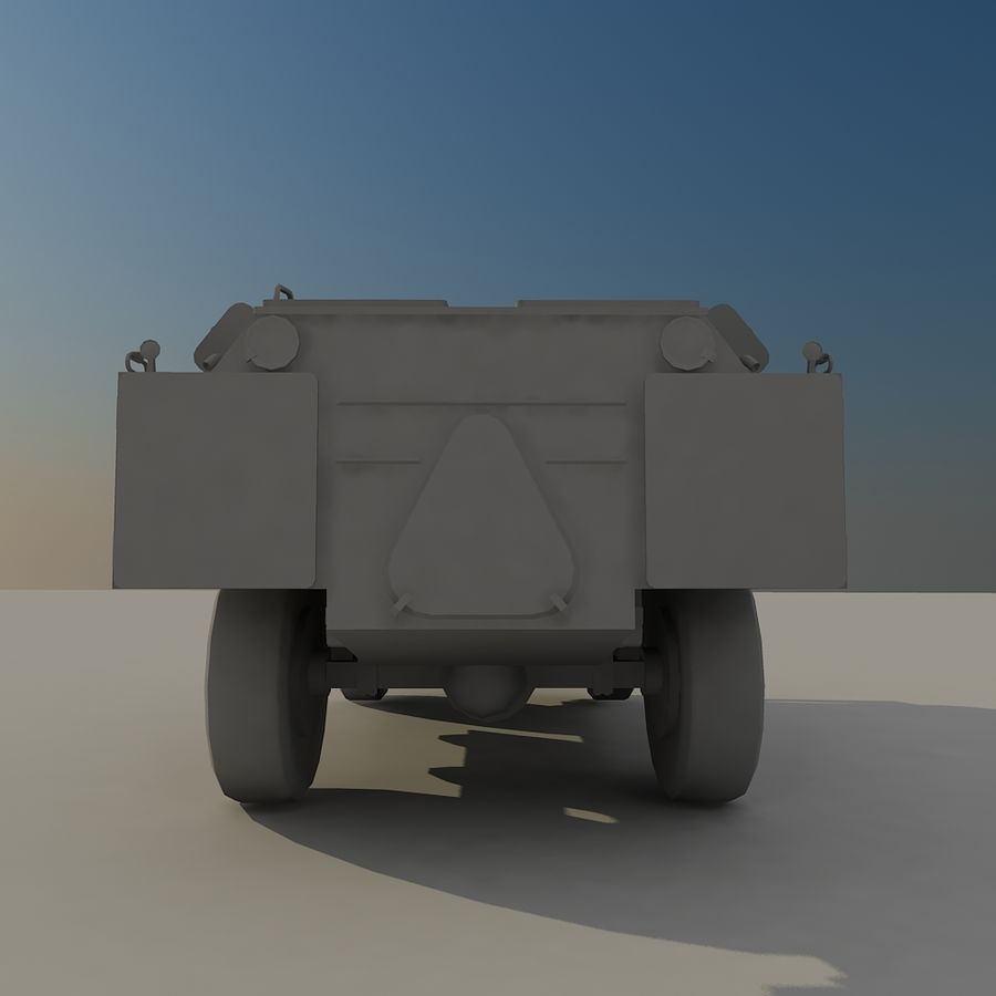 BRDM 2 soviet military vehicle royalty-free 3d model - Preview no. 9