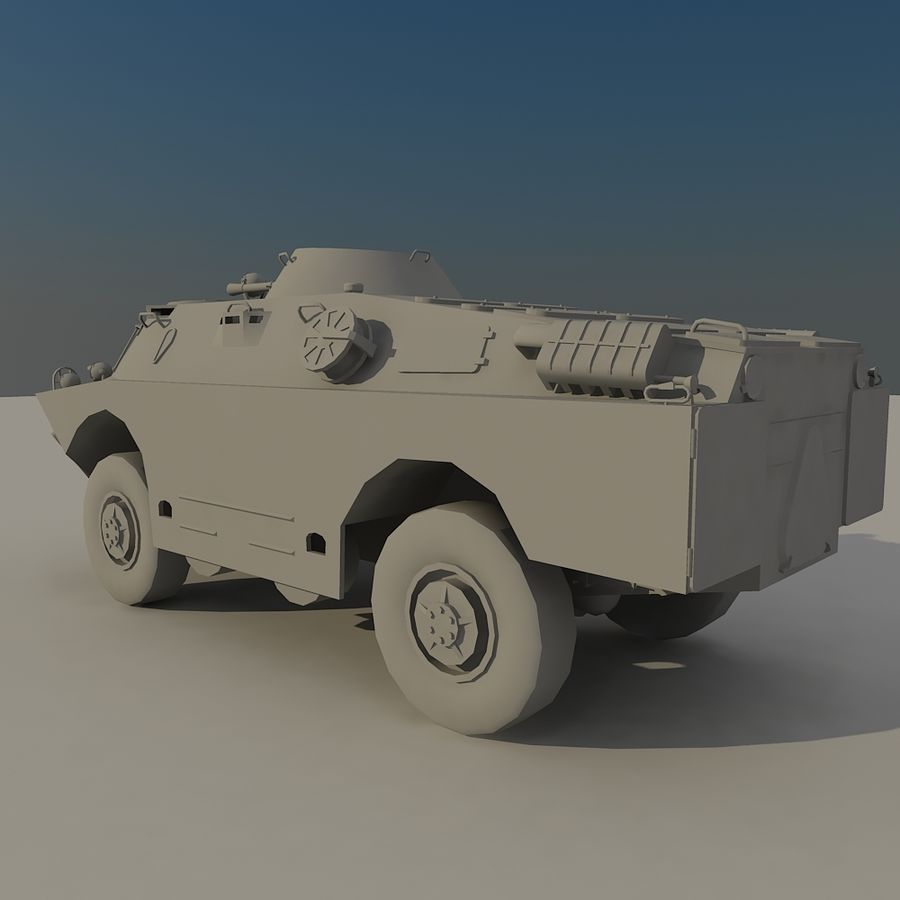 BRDM 2 soviet military vehicle royalty-free 3d model - Preview no. 4