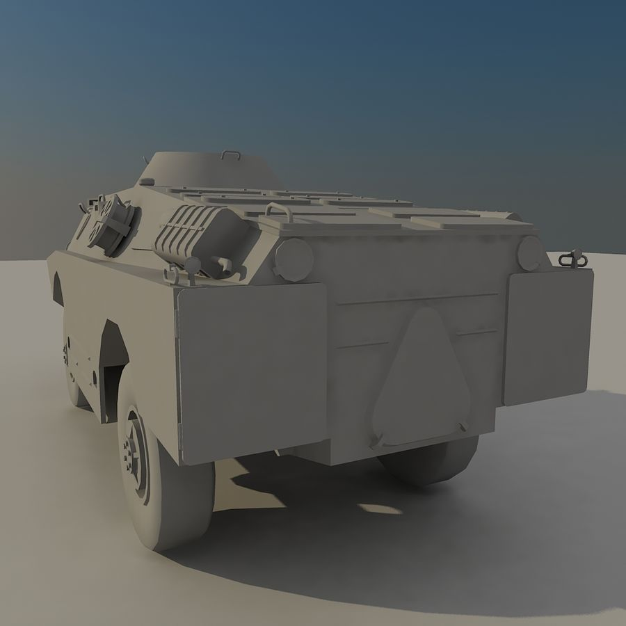 BRDM 2 soviet military vehicle royalty-free 3d model - Preview no. 5