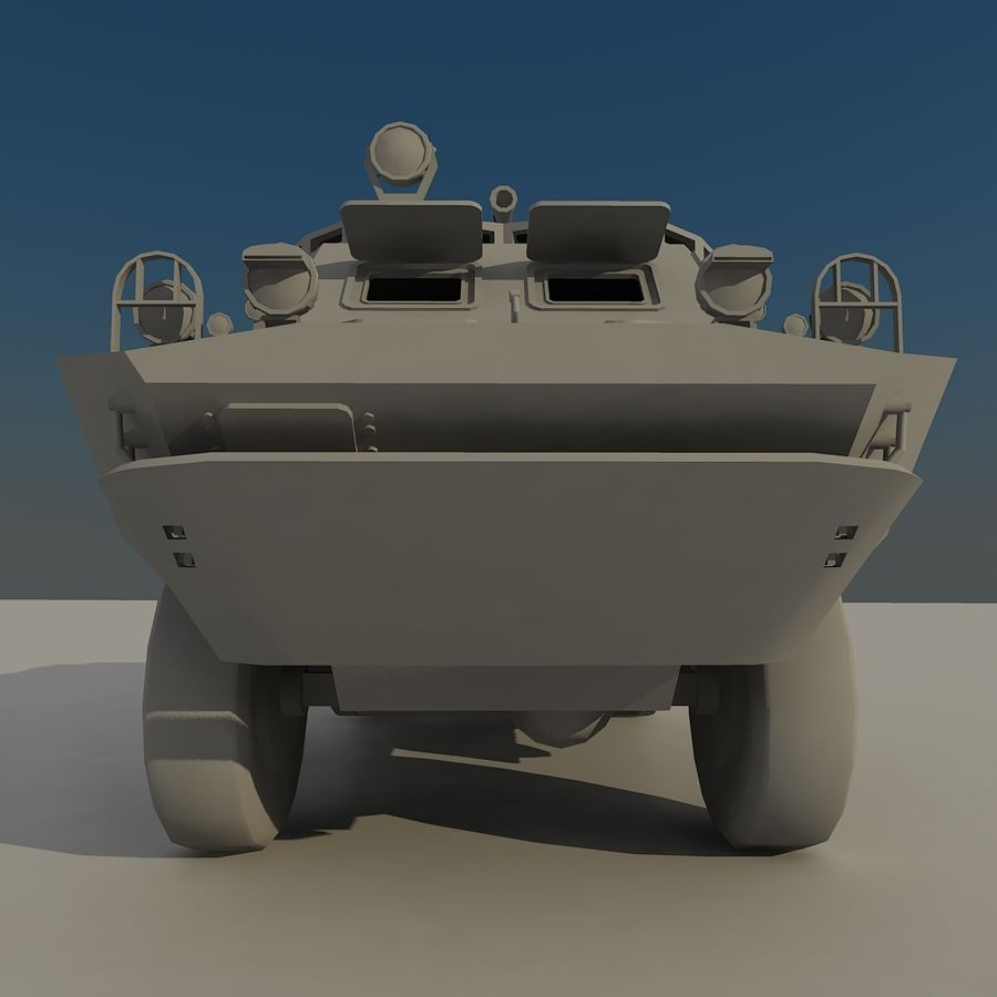 BRDM 2 soviet military vehicle royalty-free 3d model - Preview no. 8