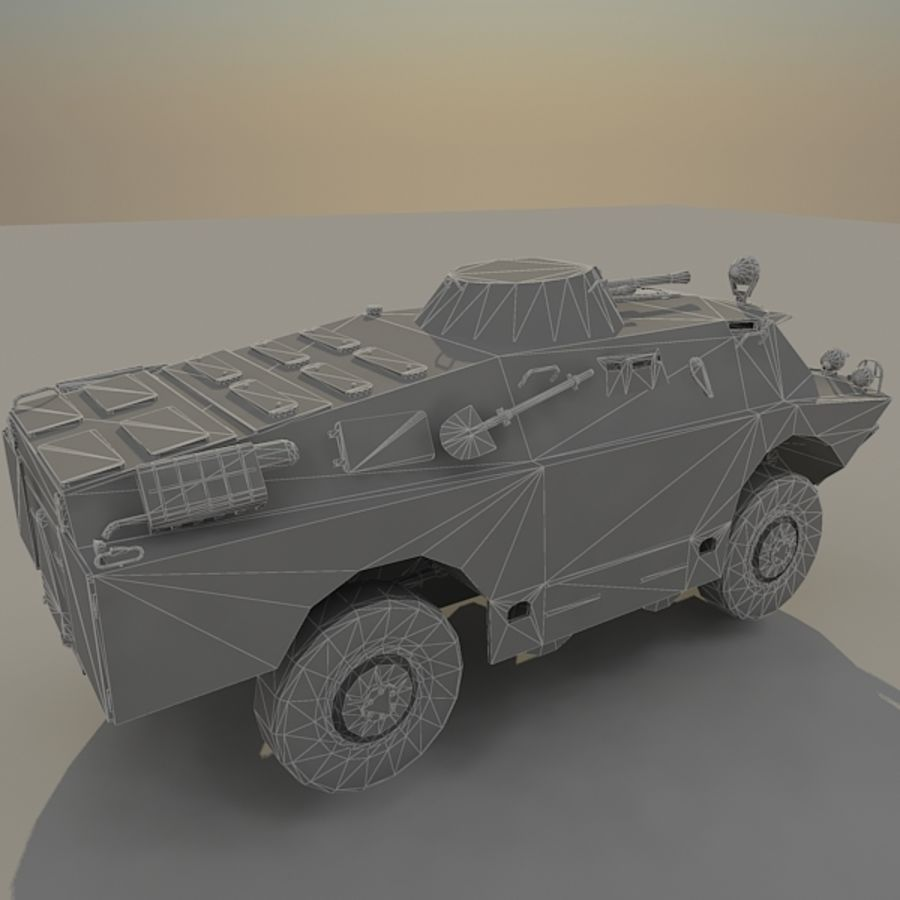 BRDM 2 soviet military vehicle royalty-free 3d model - Preview no. 12