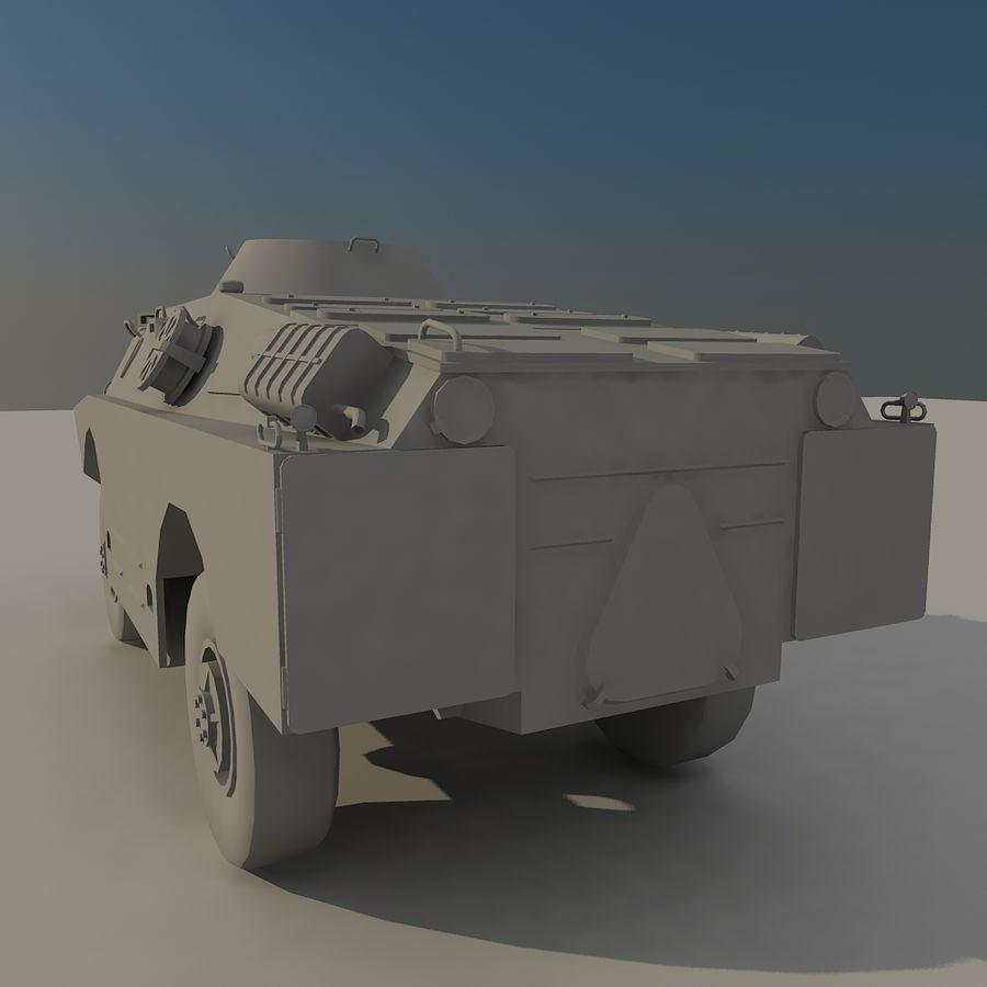 БРДМ 2 советский военный автомобиль royalty-free 3d model - Preview no. 5