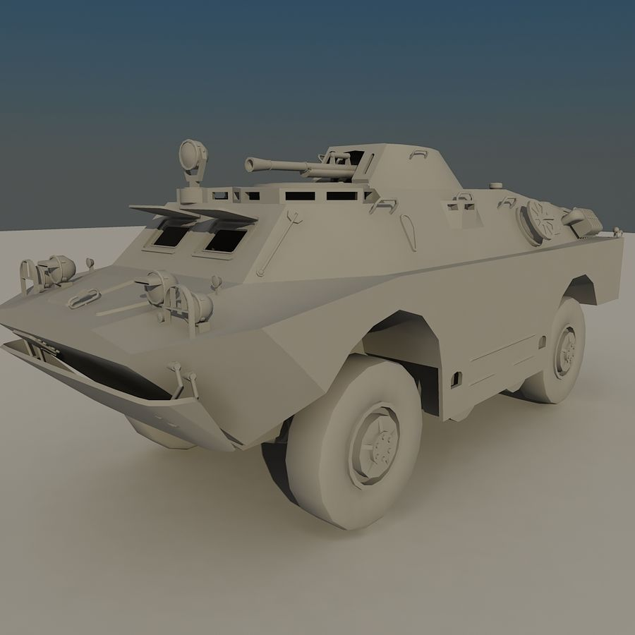 BRDM 2 soviet military vehicle royalty-free 3d model - Preview no. 2