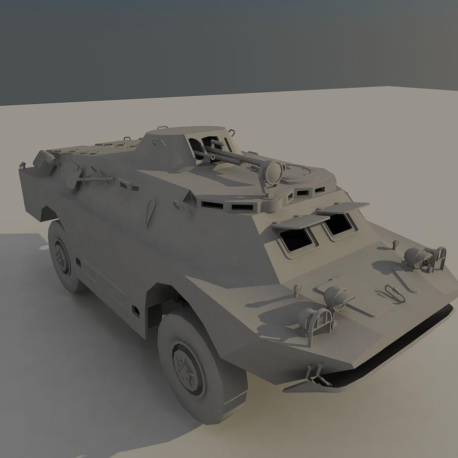 БРДМ 2 советский военный автомобиль royalty-free 3d model - Preview no. 7