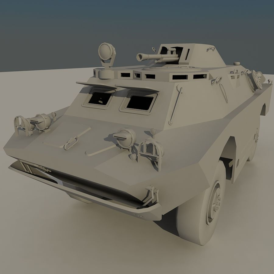 BRDM 2 soviet military vehicle royalty-free 3d model - Preview no. 1