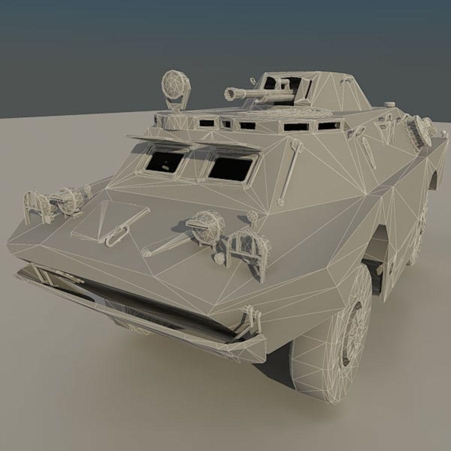 БРДМ 2 советский военный автомобиль royalty-free 3d model - Preview no. 13