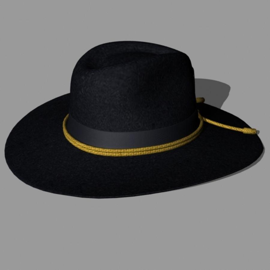 e95e00858ad US Civil War Slouch Hat 3D Model  39 - .max .obj .lxo .lwo .3ds - Free3D