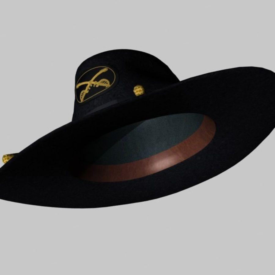 アメリカ南北戦争のスラッシュハット royalty-free 3d model - Preview no. 5