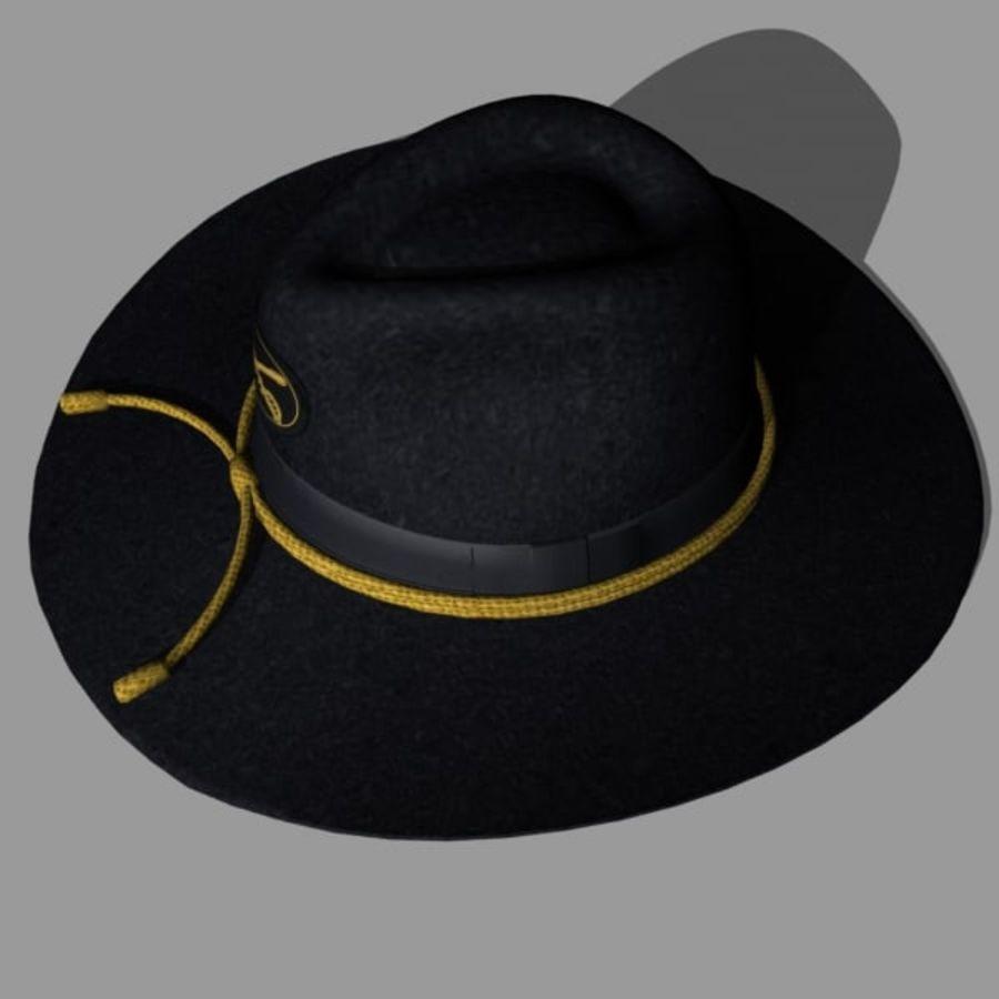 アメリカ南北戦争のスラッシュハット royalty-free 3d model - Preview no. 4