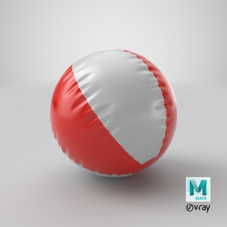 沙滩球1红色 royalty-free 3d model - Preview no. 25