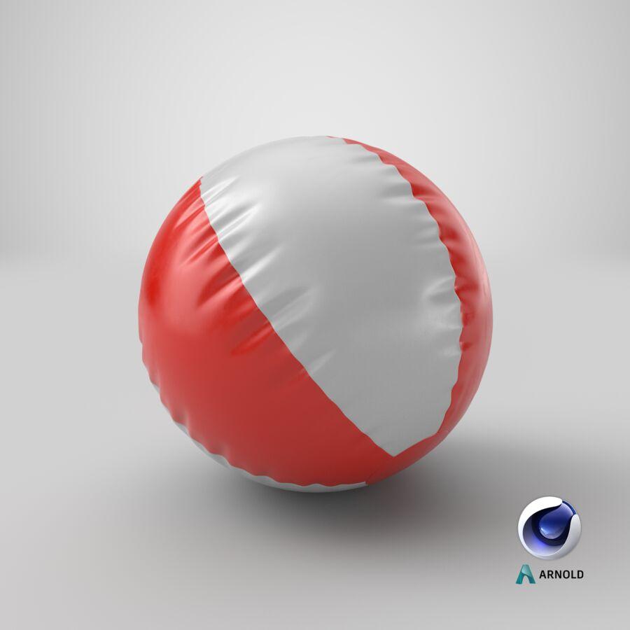 沙滩球1红色 royalty-free 3d model - Preview no. 17