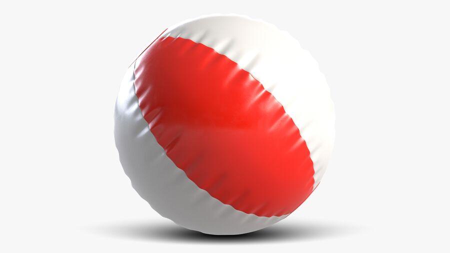 沙滩球1红色 royalty-free 3d model - Preview no. 3