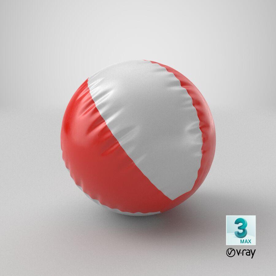 沙滩球1红色 royalty-free 3d model - Preview no. 22