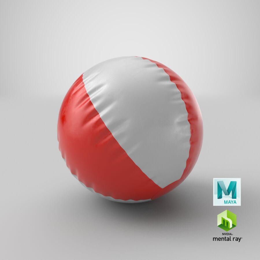 沙滩球1红色 royalty-free 3d model - Preview no. 24