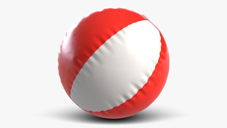 沙滩球1红色 royalty-free 3d model - Preview no. 5