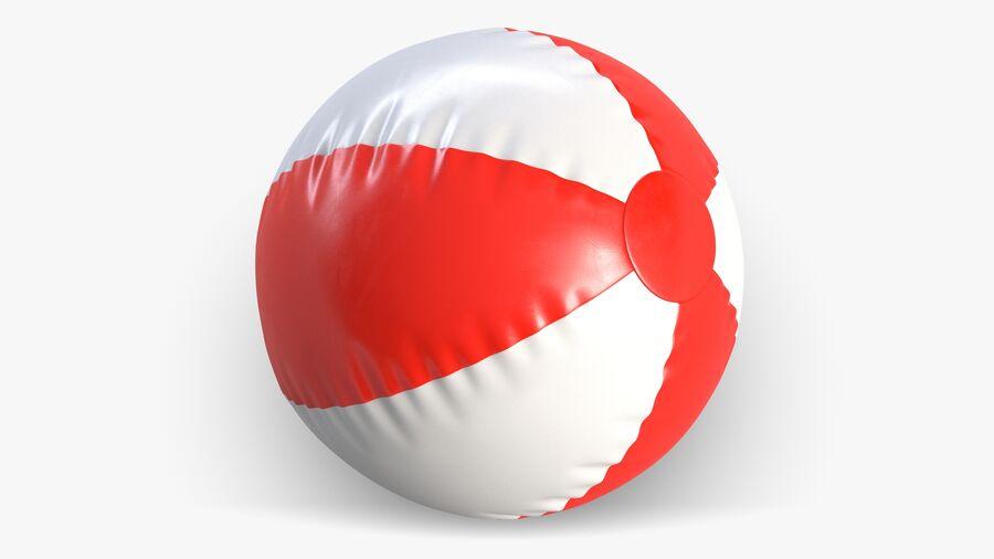 沙滩球1红色 royalty-free 3d model - Preview no. 6