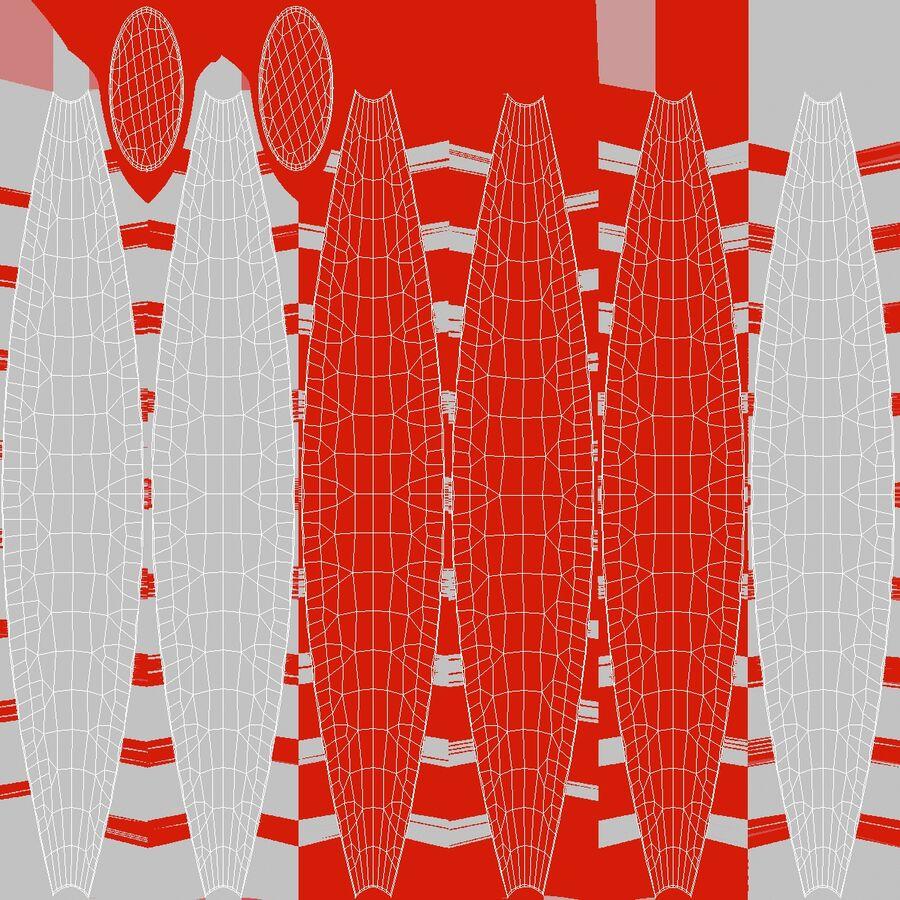 沙滩球1红色 royalty-free 3d model - Preview no. 8