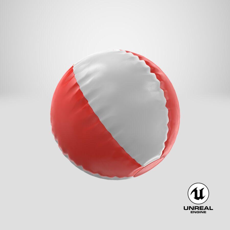 沙滩球1红色 royalty-free 3d model - Preview no. 19