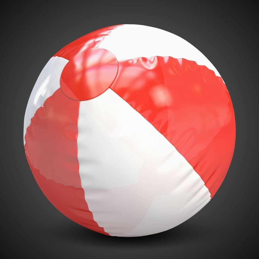 Beach Ball royalty-free 3d model - Preview no. 2