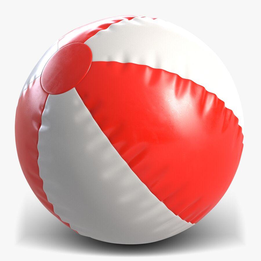沙滩球1红色 royalty-free 3d model - Preview no. 1