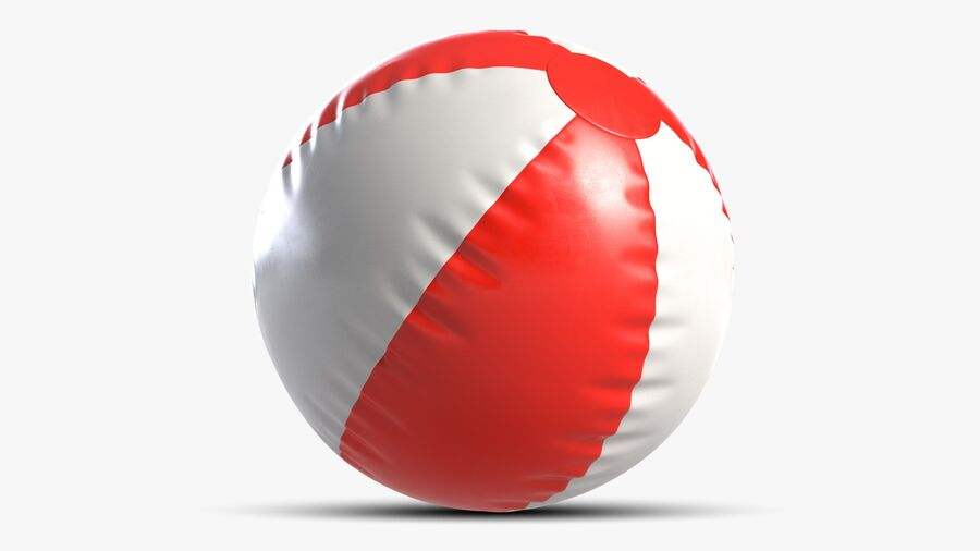 沙滩球1红色 royalty-free 3d model - Preview no. 7