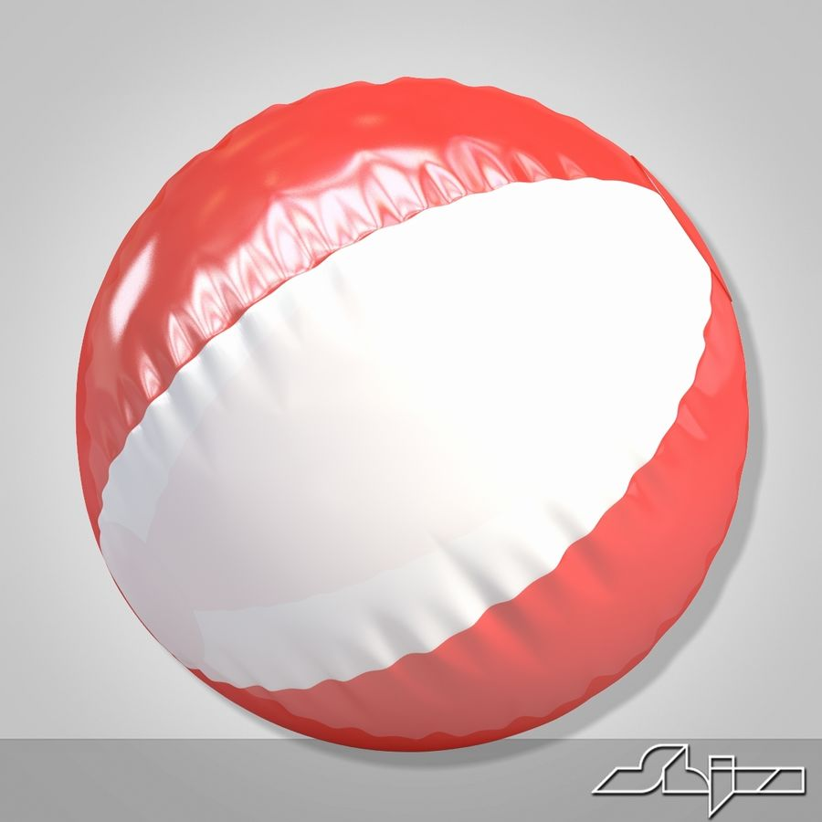 Beach Ball royalty-free 3d model - Preview no. 3