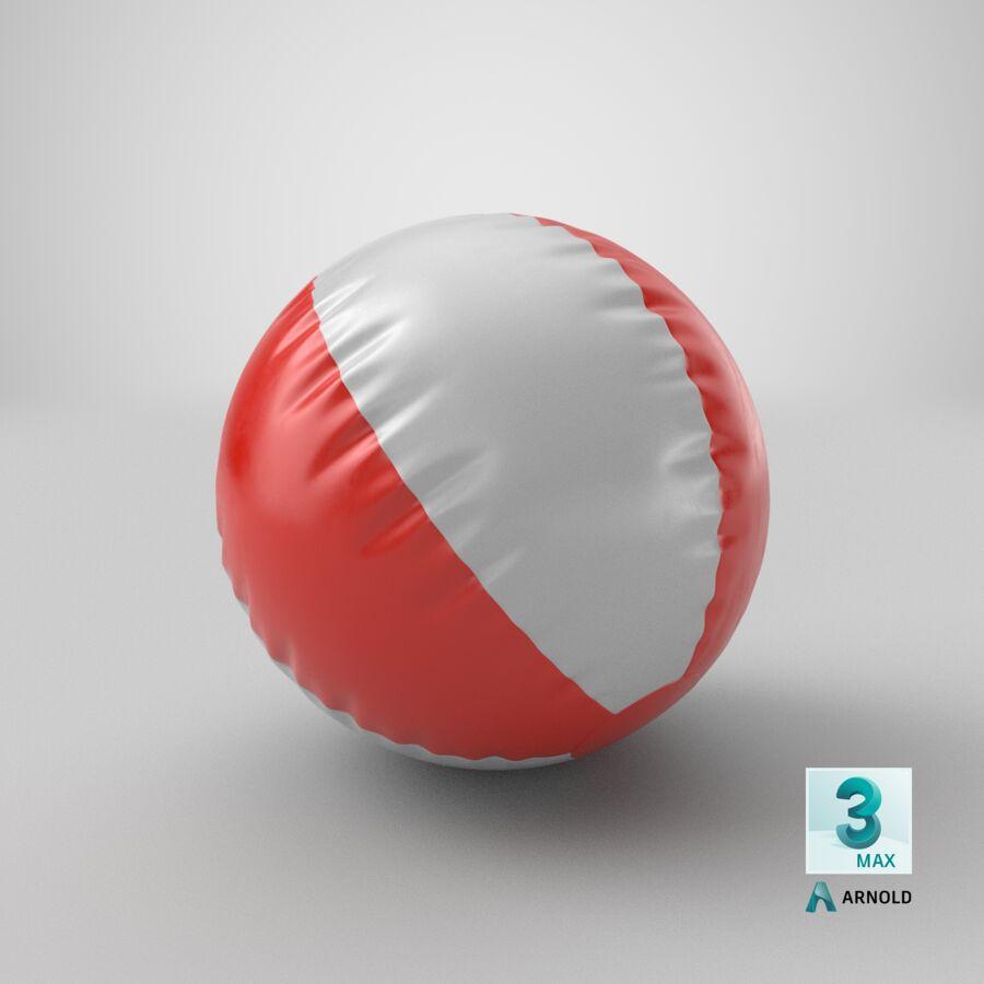沙滩球1红色 royalty-free 3d model - Preview no. 20
