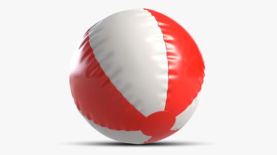 沙滩球1红色 royalty-free 3d model - Preview no. 4