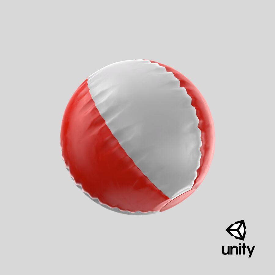 沙滩球1红色 royalty-free 3d model - Preview no. 18