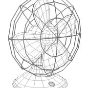 팬-책상 3d model