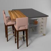 Cozinha / Café da manhã Ilha 3d model