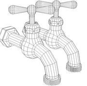 robinet extérieur 3d model