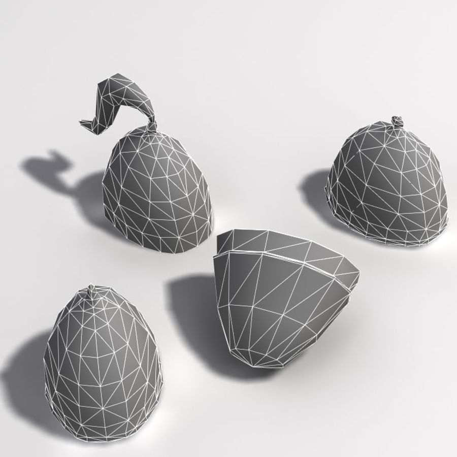 Casques Low Poly royalty-free 3d model - Preview no. 6