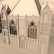 Gothic Building like Church or Cathedral 3d model
