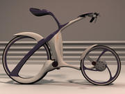 Futuristic bicycle design 3d model