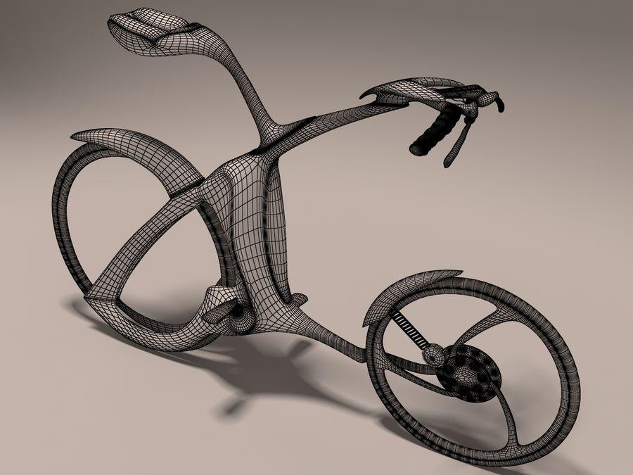 未来派的自行车设计 royalty-free 3d model - Preview no. 3