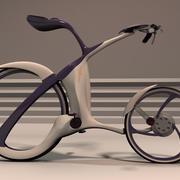Diseño de bicicleta futurista. modelo 3d