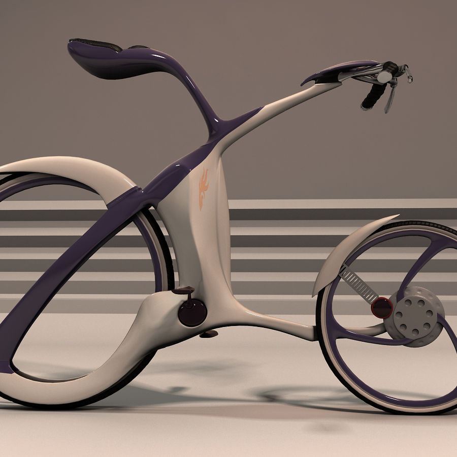Futuristic bicycle design royalty-free 3d model - Preview no. 1
