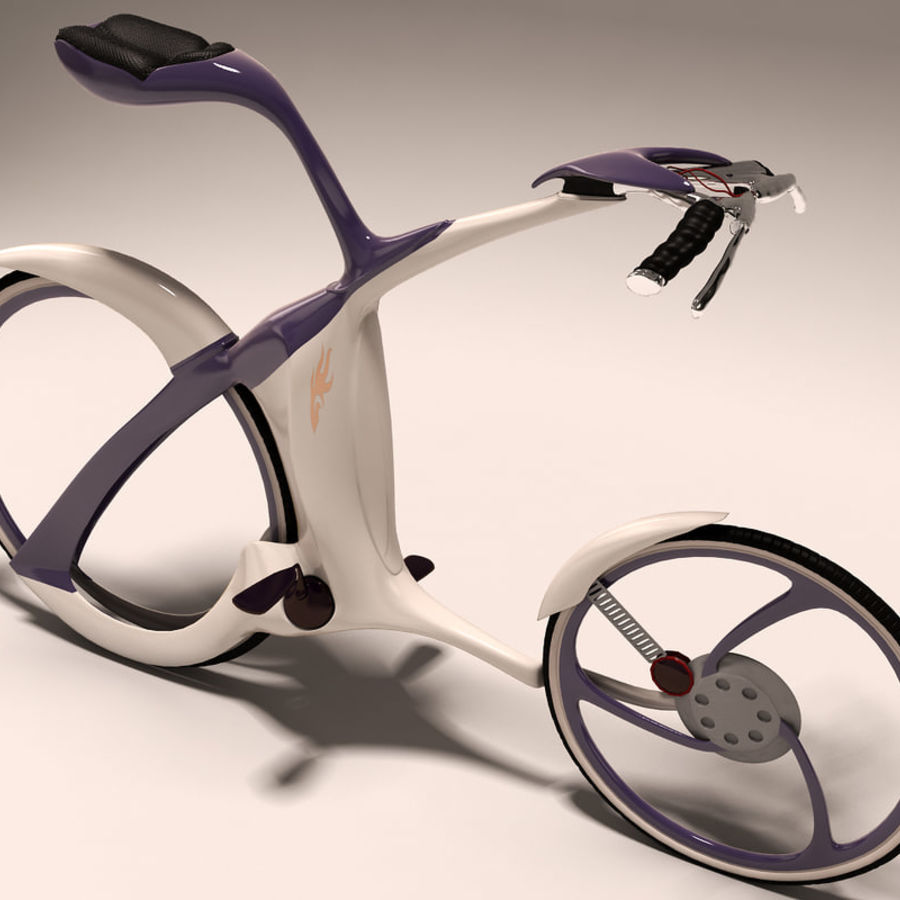 Futuristic bicycle design royalty-free 3d model - Preview no. 2