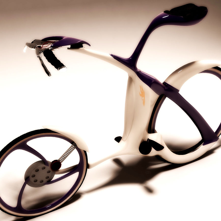 Futuristic bicycle design royalty-free 3d model - Preview no. 5